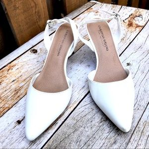 Christian Siriano wedding bridal prom white shoes